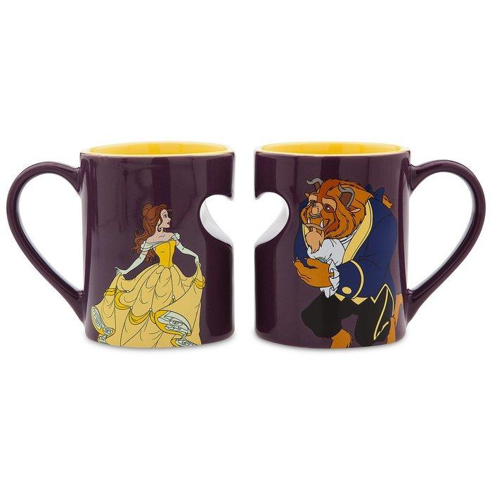 【美國連線嗨心購Go】官方正貨►美國迪士尼 BELLE 貝兒公主 美女與野獸 陶瓷 馬克杯 對杯組