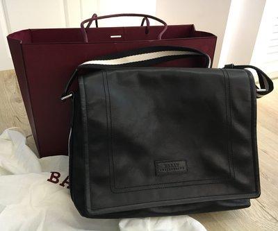 全新 BALLY Tepolt Messenger Bag 經典雙色織帶小牛皮翻蓋郵差包 (附機場專賣店購證)
