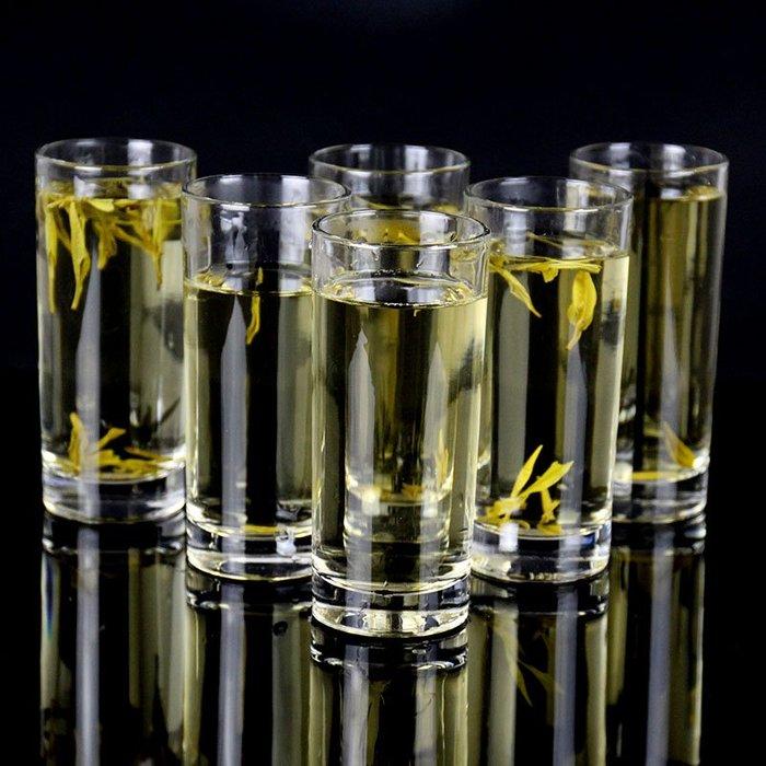 乾一家用玻璃杯啤酒杯套裝果汁杯餐杯酒吧KTV茶杯耐高溫牛奶杯 6只裝