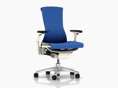 《瘋椅世界》全新現貨 Herman Miller Embody 人體工學椅 白框藍厚布 電腦椅【頂級旗艦款】Embody/Aeron/Mirra 參考  電競椅