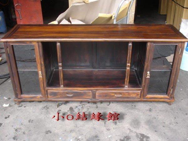 小o結緣館仿古傢俱............5尺1雙抽雙門電視櫃(雞翅木)154x42x68