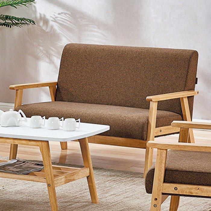 【在地人傢俱】19 樂樂購-SF1-1咖啡色布2人/二人/雙人沙發椅 JL97-6