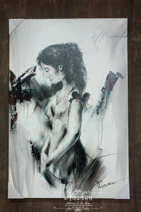 ~*~歐室精品傢飾館~*~鄉村風格 手工 繪製 工筆 油畫 時尚 摩登 女子 無框畫 掛畫 掛圖 壁飾 C款~新款上市~