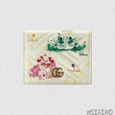 【WEEKEND】 GUCCI x DISNEY 迪士尼 聯名 米奇 GG Marmont 卡夾 短夾 616768