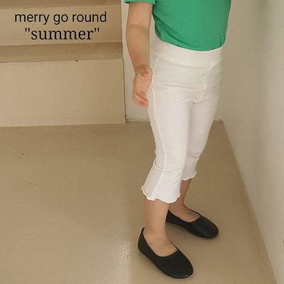 3~13 ♥褲子(IVORY) MERRY GO ROUND-2 21夏季 MGR210519-014『韓爸有衣韓國童裝』~預購