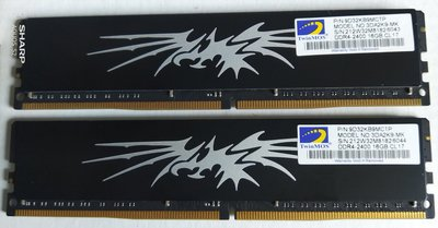 【賣可小舖】全新 勤茂 DDR4-2400 16G 1500元 桌上型記憶體雙面 (同批 )