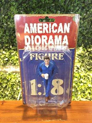 1/18 American Diorama Mechanic 維修技師人偶 AD77445【MGM】