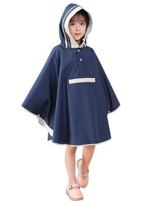 哆啦本鋪 日式兒童雨衣幼兒園小學生雨披大帽檐斗篷男童女童帶書包位厚D655
