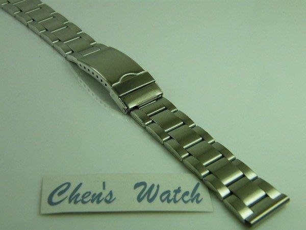 錶帶屋 平頭不鏽鋼製單折扣錶帶有效替代 24mm 26mm 現貨商品