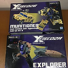 變形金剛 Transformers 原色版Fansproject Bruticus Crossfire 02A 02B Munitioner Explorer