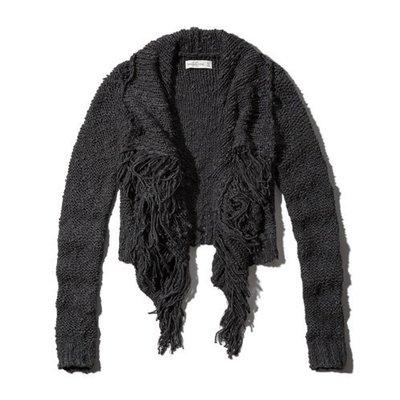 ㄚ貓的店~全新Abercrombie&Fitch MONICA 流蘇開襟衫~出清特價$980含運(L號)