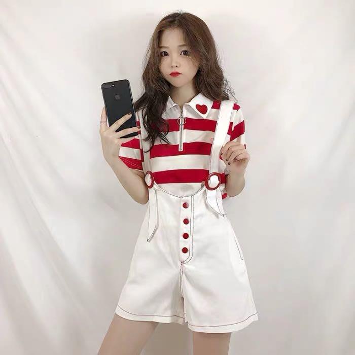 (特價)韓版可愛寬鬆顯瘦吊帶褲背帶褲短褲