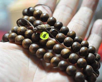 宋家苦茶油nathanagarALL.8越南芽莊黑老虎奇楠108顆手珠10mm..42克