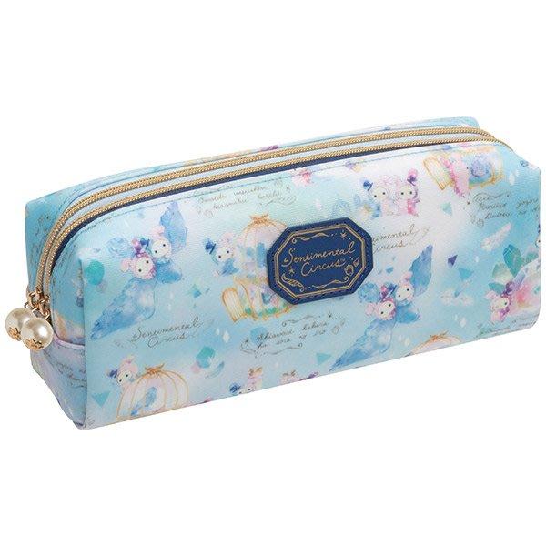 筆袋--日本正版SAN-X憂傷馬戲團青鳥筆袋/鉛筆盒--秘密花園