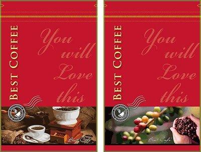 ☀設計款夾站立袋☀紅色熱愛-含氣閥款-160*250mm (50入/400元) 掛耳式咖啡.咖啡豆袋