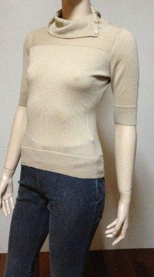 *1/2美人魚*日系經典設計師款OZOC專櫃38號5分袖高質感舒適品牌雜誌名媛風100%羊毛衣688元起標