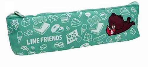 《Greens selection》日本LINE FRIENDS筆袋/筆盒/收納袋 (湖水綠)