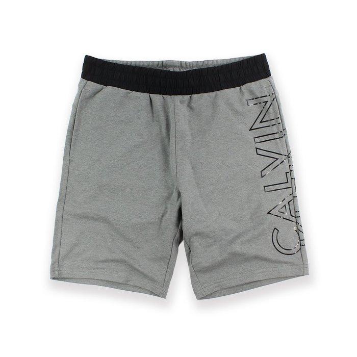 美國百分百【Calvin Klein】短褲 CK 休閒褲 褲子 棉褲 棉質 運動褲 男款 灰色 S M XL號 I288