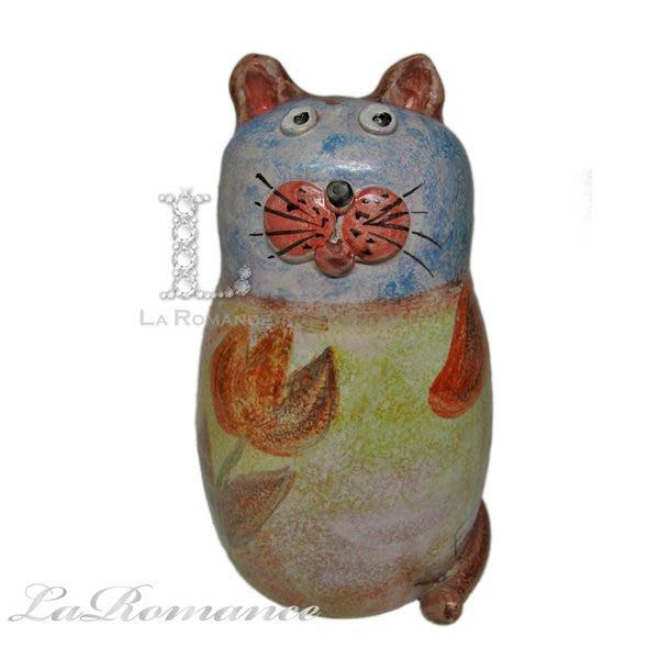 【芮洛蔓 La Romance】 義大利手繪童話陶貓咪存錢筒 / 撲滿 - 大