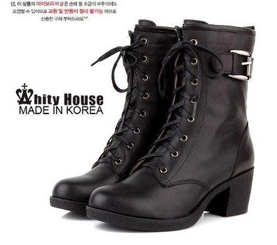 =WHITY=韓國GRAMMI品牌 韓國製FF設計師新作全真皮牛皮個性超顯瘦短靴SWB3072