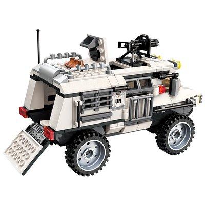 玩具小孩禮物啟蒙(ENLIGHTEN)兒童積木玩具拼裝雷霆使命系列坦克飛機男孩立體拼插3204裝甲車的危機6-8-10-12歲