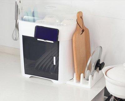 廚房碗筷收納盒置物架放碗碟瀝水架收納箱帶蓋家用儲物架塑料碗櫃  mks 玫瑰女孩