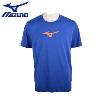 運動GO~ 美津濃 MIZUNO 法國藍 基本 男 短袖 T恤 圓領 透氣 排汗衫 32TA650622 有大尺寸