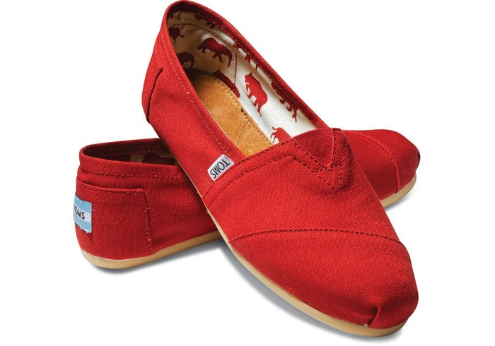 ☀╮A&T-TOMS╭☀專賣美國品牌TOMS Classics經典基本情侶款【RED紅】現貨+預購