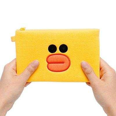 【方形零錢包】 現貨 Line Friends 莎莉 方型 零錢包 相機包 手機包 收納包 夾層 絨毛 絨布 熊大