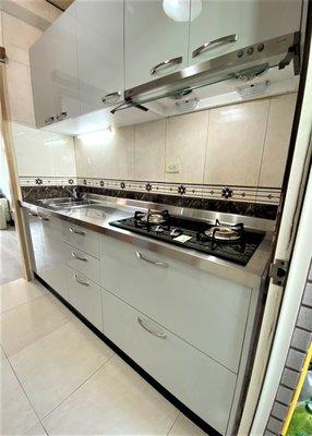 食尚廚具-人氣平價廚具專業客製屬於您的廚具 不鏽鋼檯面 總長度210CM 廚具/流理台