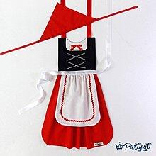 **party.at**小紅帽 兒童圍裙 2-8Y 萬聖節服裝 聖誕節服裝 灰姑娘 白雪公主 冰雪奇緣 長髮公主 迪士尼