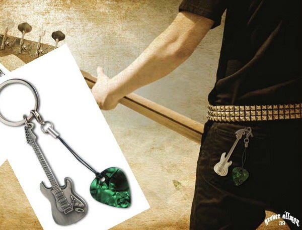 ☆ 唐尼樂器︵☆ Grover Allman Fender/ Gibson LP SG 造型 Pick 彈片鑰匙圈