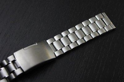 168錶帶配件/22mm平頭實心不鏽鋼製錶帶超值亞米家sea master海馬omega風格speed master