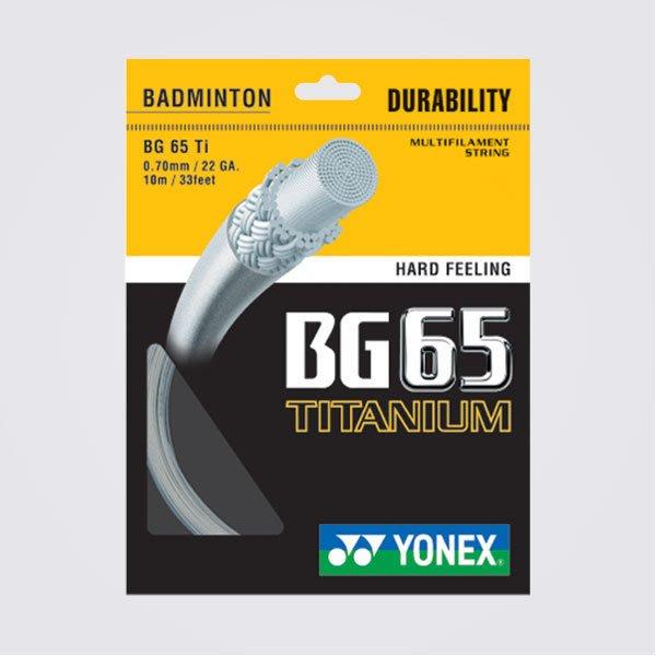 Ψ 山水體育用品店 Ψ【羽球線】YONEX BG65Ti  (BG-65Ti) 有白、粉紅、紅、三色可選 一盒10條