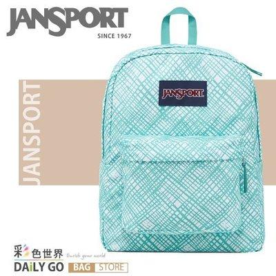 JANSPORT後背包包 JS-43501-0JJ湖水綠格格