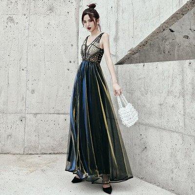 妞妞 婚紗禮服~深V领性感生日派對宴會...
