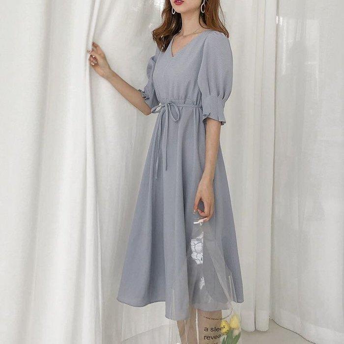 韓款氣質修身洋裝