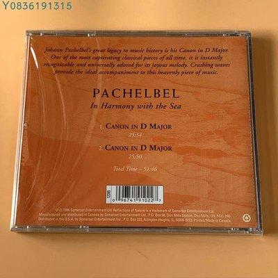爆款CD.唱片~96首版 巴哈貝爾 Pachelbel: In Harmony with the Sea  CD 專輯
