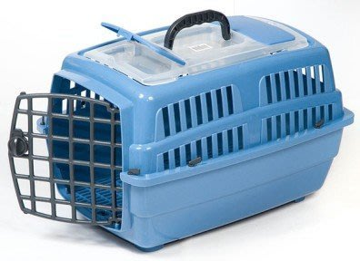 禾其H-318小型犬貓豪華安全壓扣外出提籠 運輸籠 車載籠H318(天窗款)每件500元