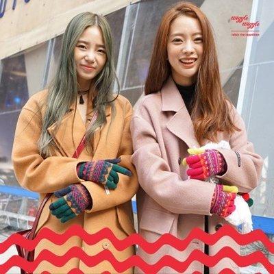 韓國正品wiggle觸屏手套女男冬可愛加厚情侶保暖學生羊毛絨手套