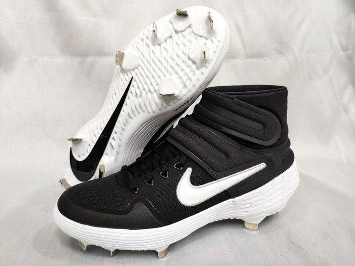 宏亮 NIKE 棒球鞋 棒球釘鞋 尺寸US8~12 鐵釘 高筒 ALPHA 雙魔鬼氈 AJ6874 001