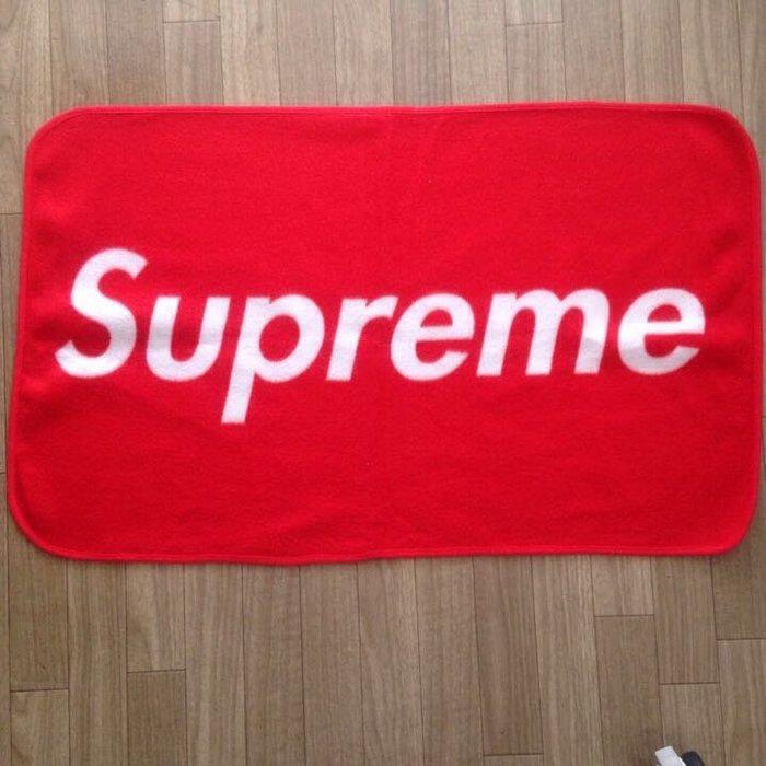 Supreme Fleece Blanket 紅色 加絨 圍脖 圍巾 日本雜誌 潮流
