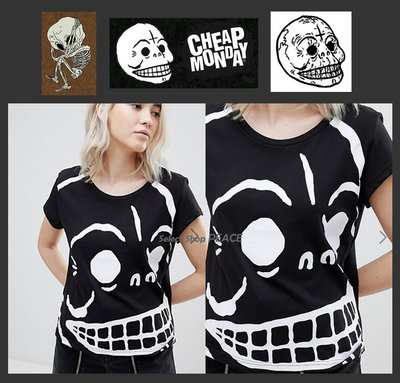 Cheap Monday 瑞典【現貨↘打7.5折】XS/S號 T恤 Have Huge Skull