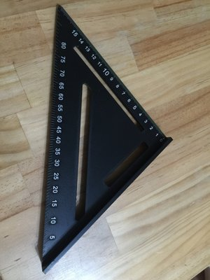 黑色 公制 鋁合金 三角尺 木工專用尺 學習繪圖用 90度 直角尺 45度角尺