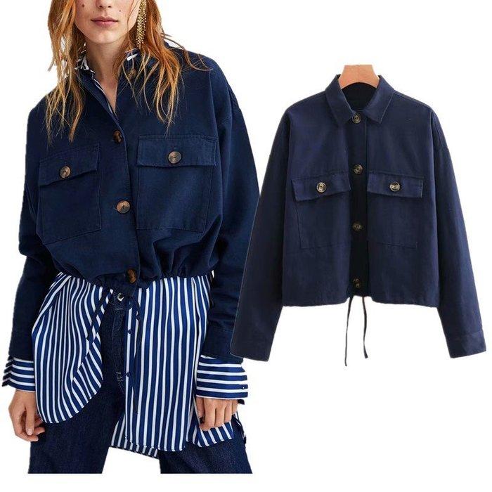 ☆Alice W☆ 【零碼特賣】寬鬆感口袋裝飾短版夾克外套│S號│