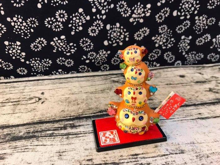 日本華麗萬古燒貓頭鷹擺飾,附盒裝~最特別的禮物都在奧爾思~