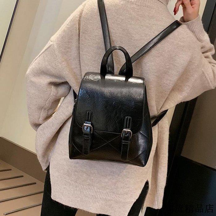 韓版簡約時尚雙肩包女冬季新款潮手提包個性氣質旅行包學生包