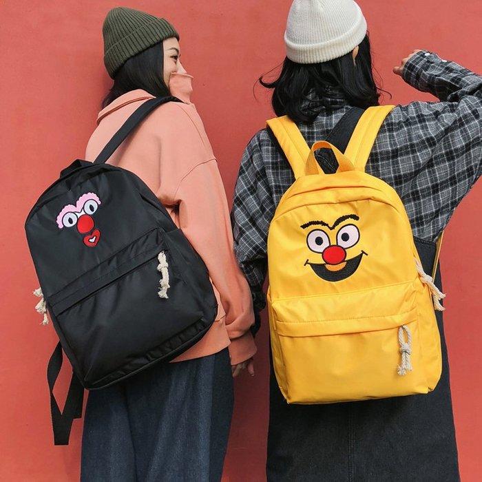 古著感少女書包 雙肩包女校園中學生韓國森系卡通可愛百搭ins背包 時尚背包