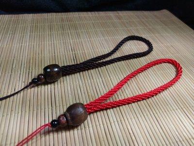 中國結綁繩+木珠--N28   翡翠玉墜 掛件 手把件粗綁繩  (紅色,黑色) 買10條送1條
