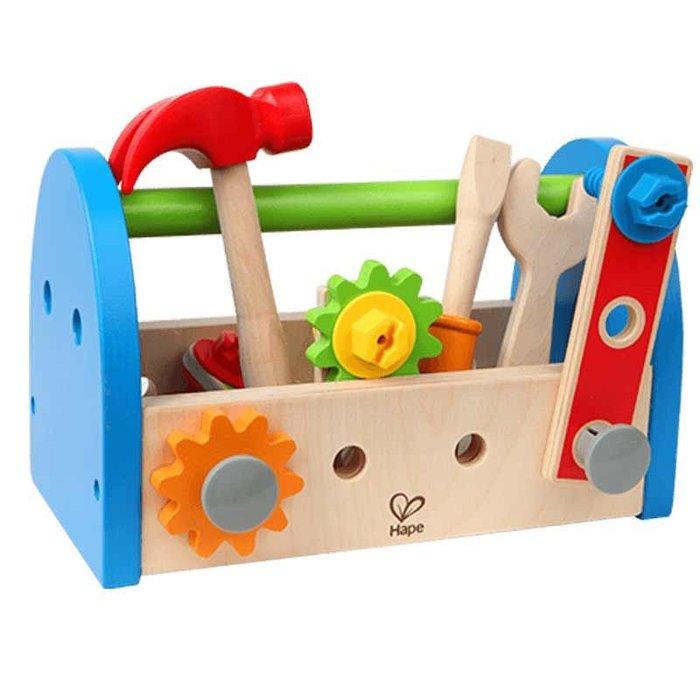 積木城堡 迷你廚房 早教益智Hape兒童工具箱擰螺絲修理玩具套裝男孩拆裝木頭過家家益智玩具
